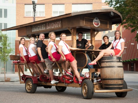 Beer bikes banned in Amsterdam after stag dos get carried away