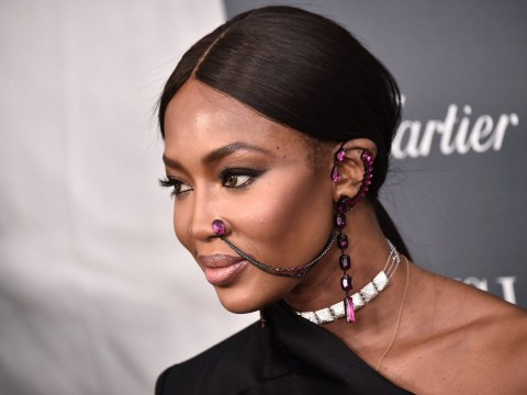 Naomi Campbell makes a statement with stunning piece of unique face jewellery