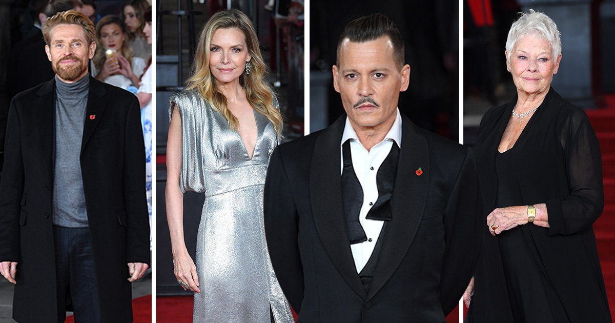 Johnny Depp joins Dame Judi Dench, Daisy Ridley and Kelly Brook at the Murder On The Orient Express London premiere