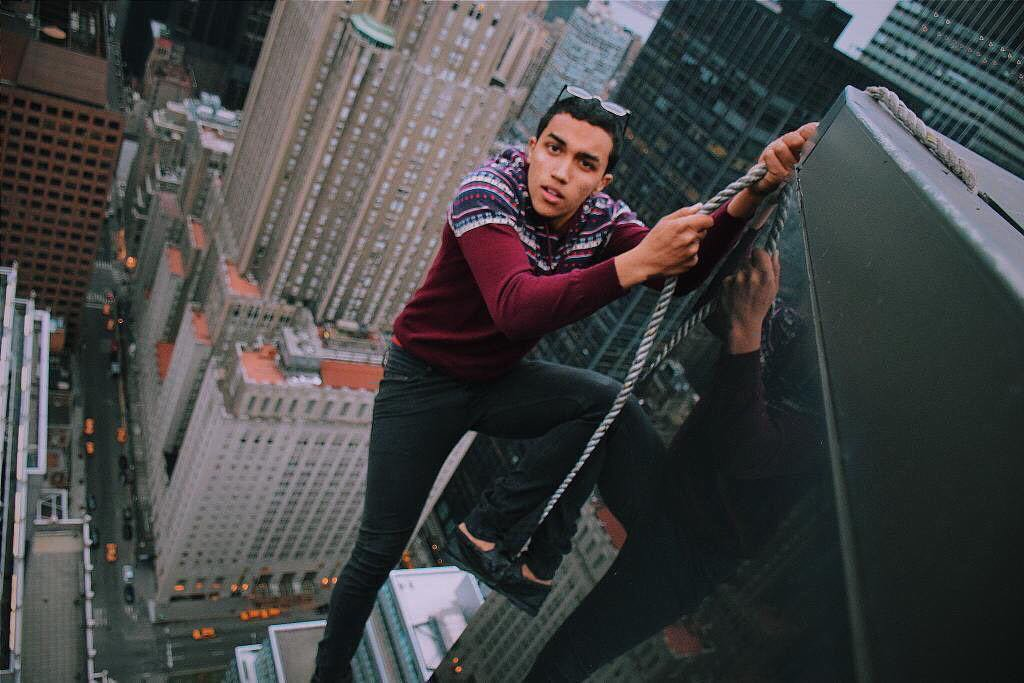 The New York daredevils performing death-defying stunts from the top of skyscrapers