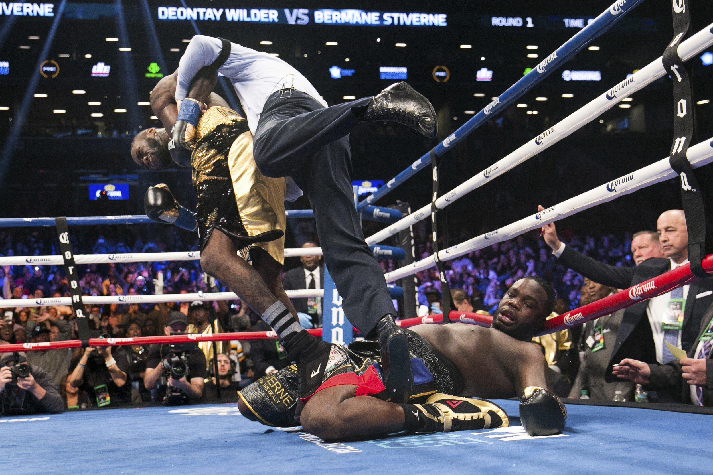 Deontay Wilder calls out Anthony Joshua after brutal knockout victory against Bermane Stiverne