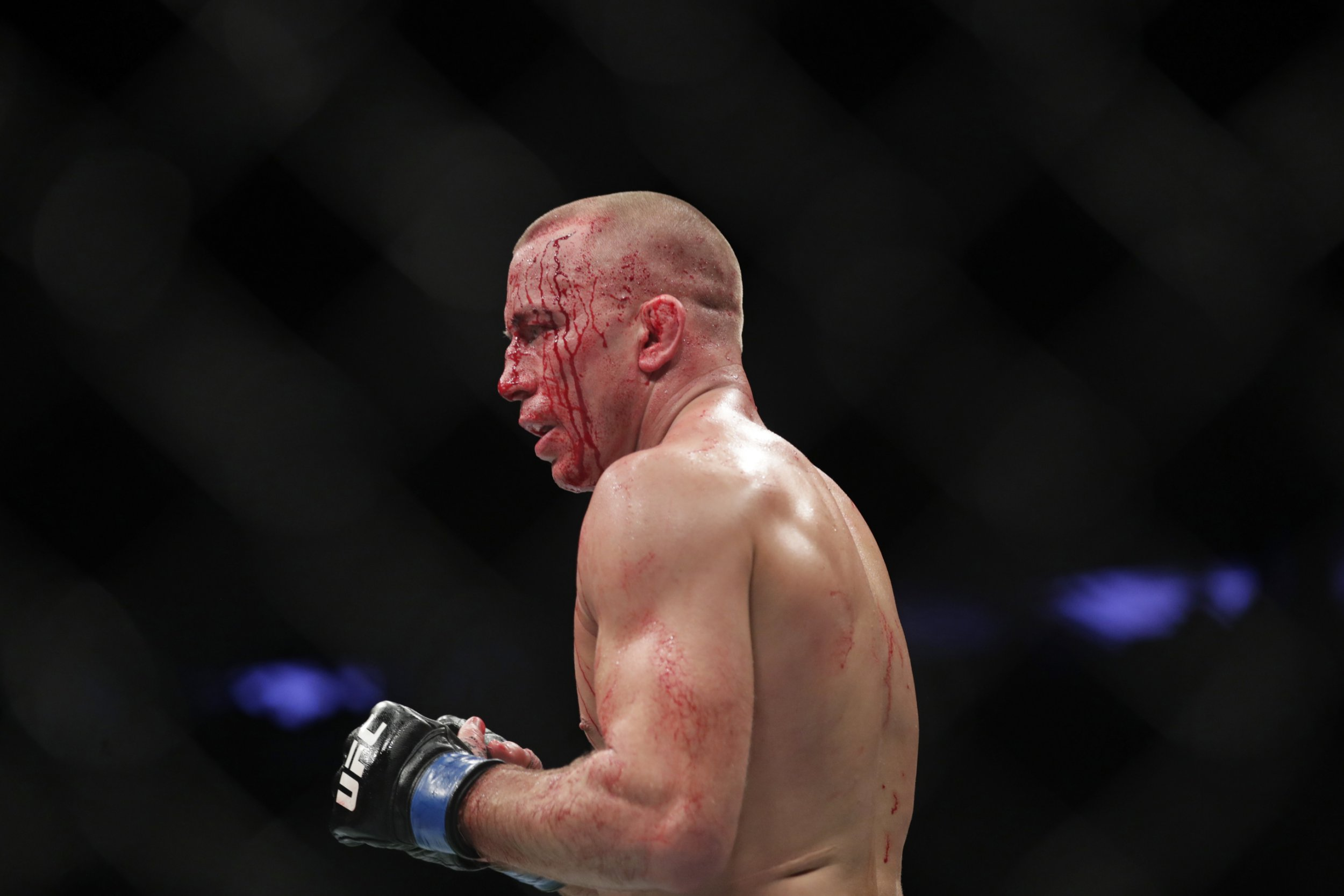 Georges St-Pierre transported immediately to hospital after UFC 217 triumph