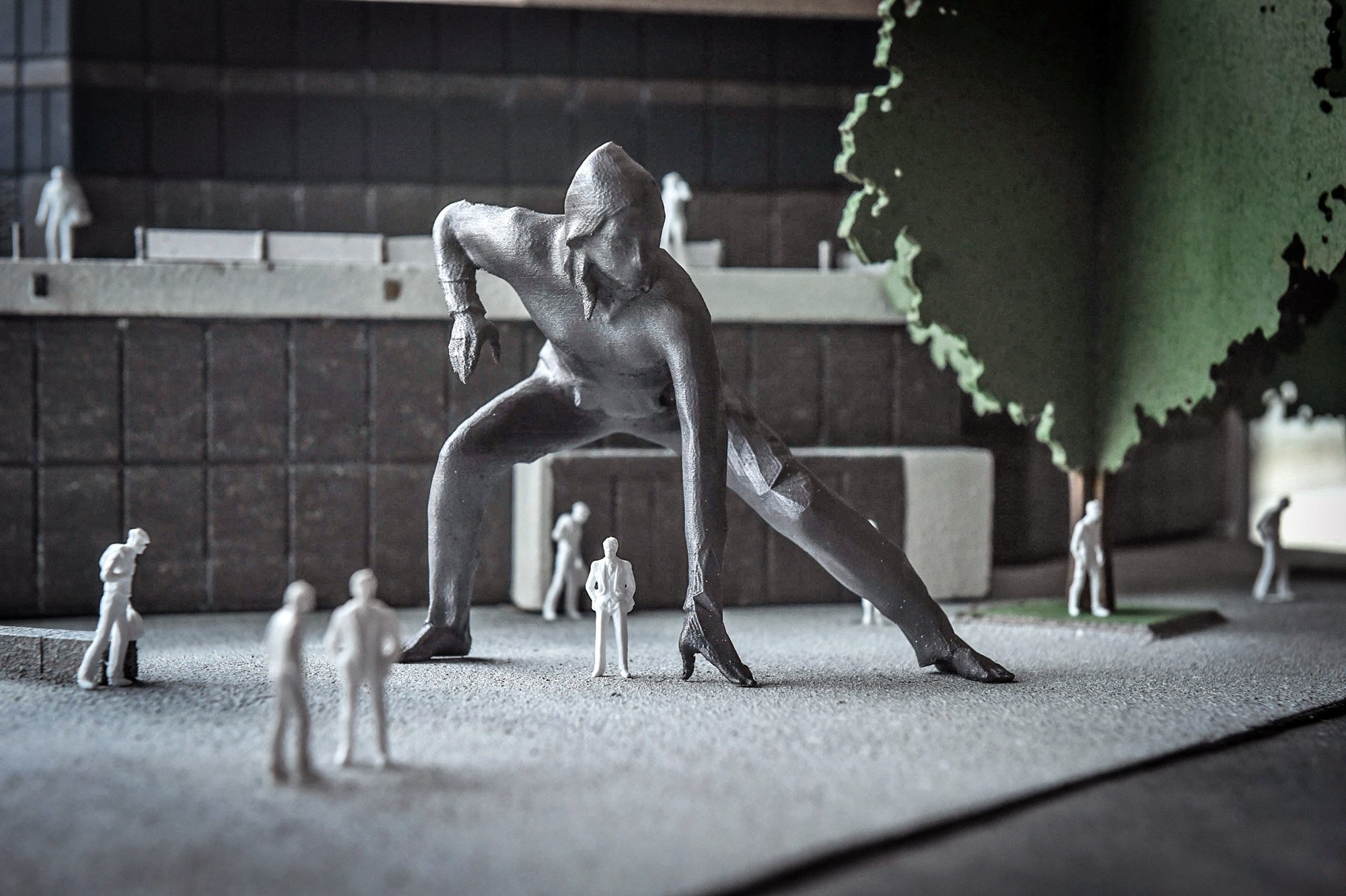Giant bronze sculpture of squatting sex worker causes outcry
