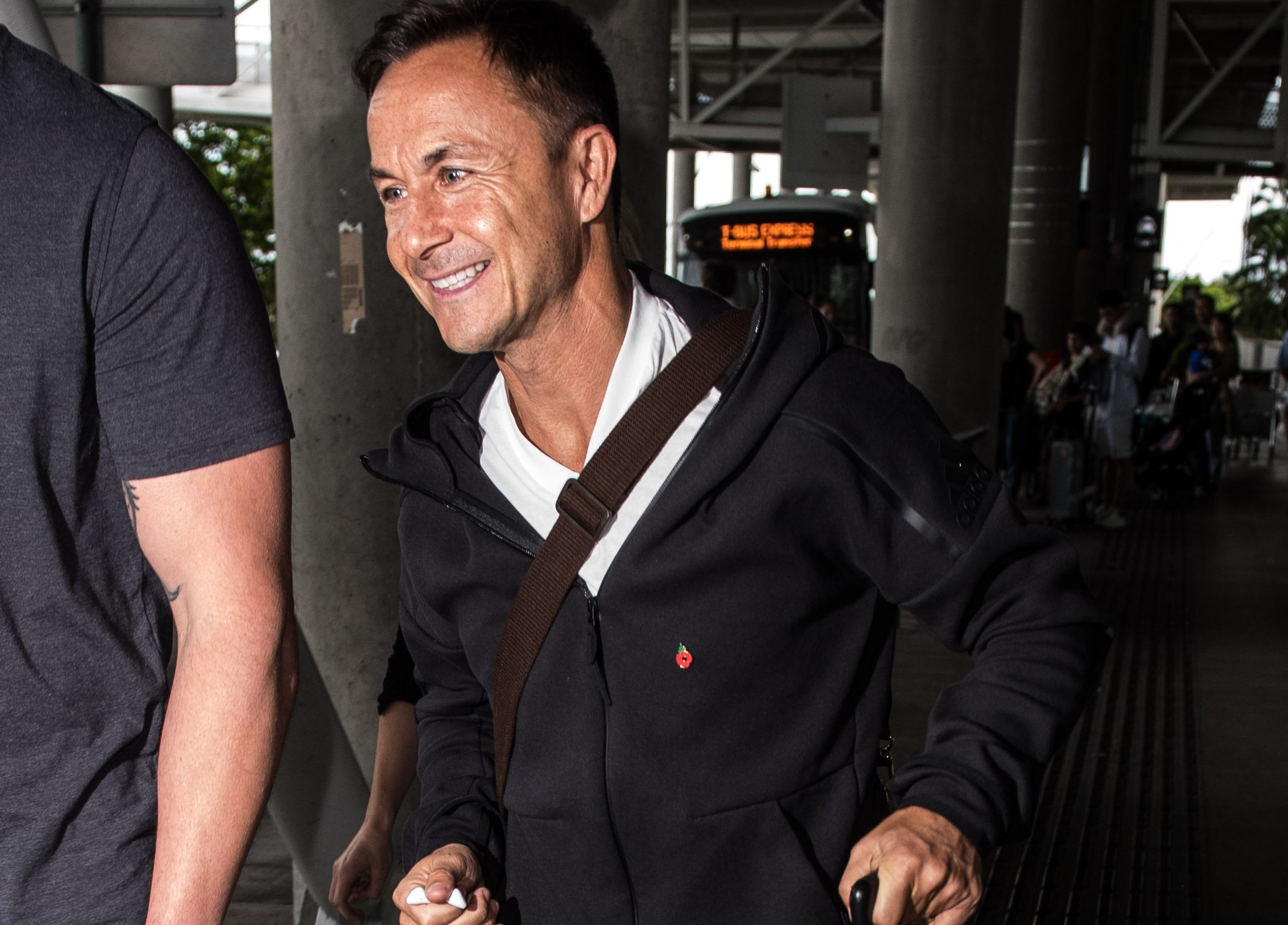 Former footballer Dennis Wise enters the I'm A Celebrity fray as he touches down in Australia