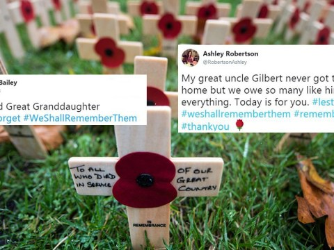 People are sharing photos of their grandparents to mark Remembrance Sunday
