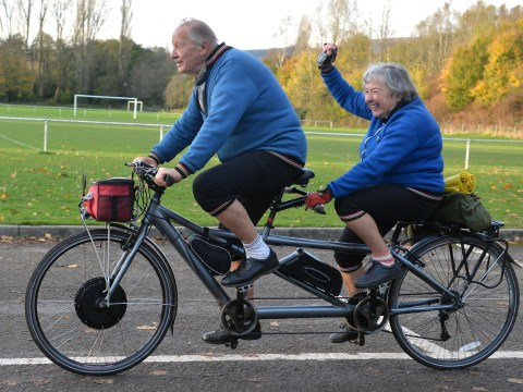 Meet the couple with a combined age of 177 years who've cycled 1000 miles on a tandem