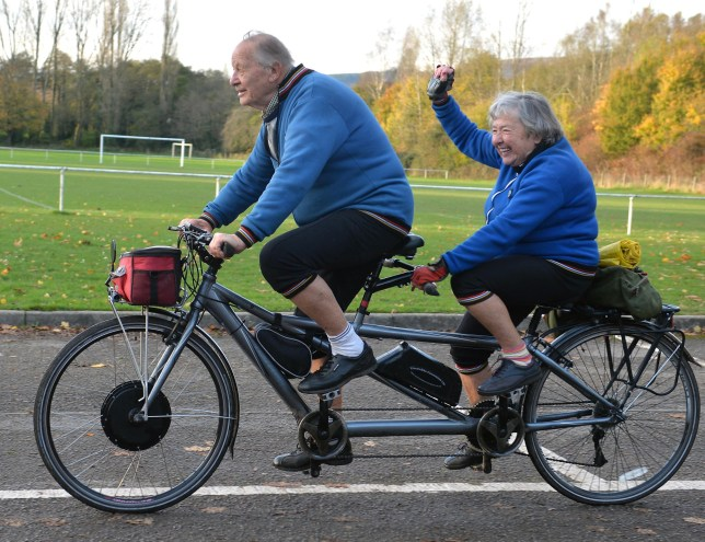 Couple With Combined Age Of 177 Years Cycle 1000 Miles On