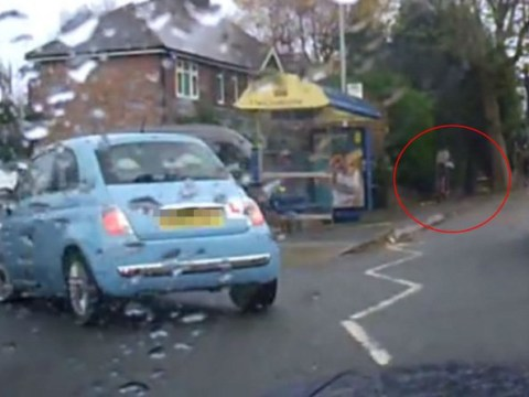 People are arguing about whether car driver or cyclist is to blame for this crash