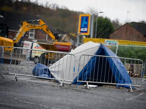 'Human remains' including 'skull and shoulder blade' found under Aldi car park