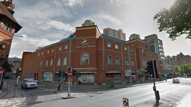 Two pensioners banned from House of Fraser for having sex in loo at 10am
