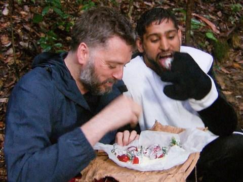 I'm A Celebrity fans outraged after 'selfish' Amir Khan and Iain Lee secretly eat Dingo Dollar food prize