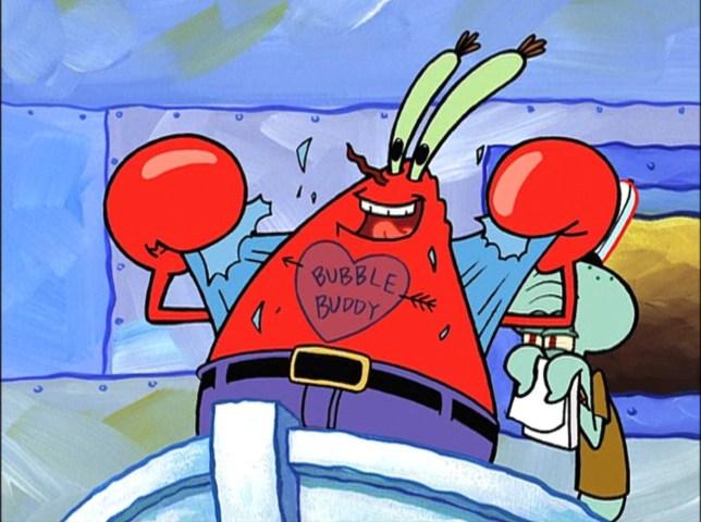 Spongebob Squarepants' Mr Krabs is celebrating his 75th