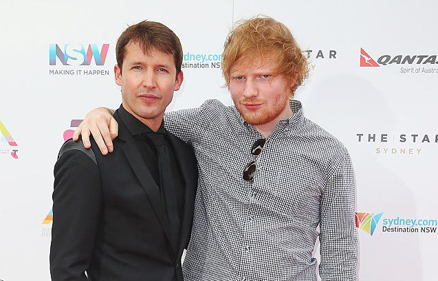 Ed Sheeran reveals he 'will become godfather' to James Blunt's son