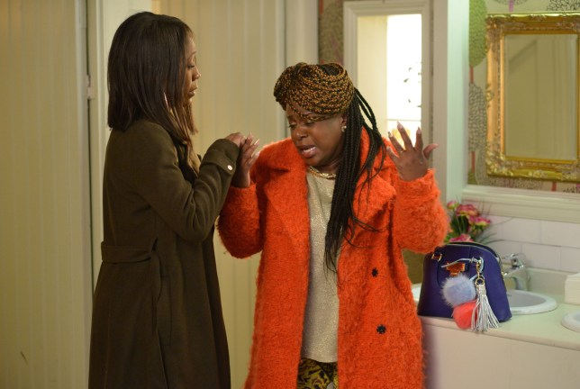 Kim opens up to Denise in EastEnders