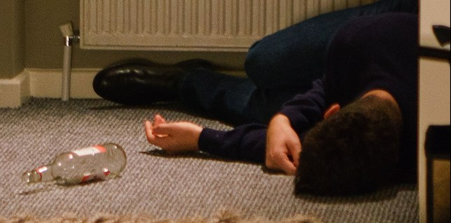 Adam passes out in Coronation Street
