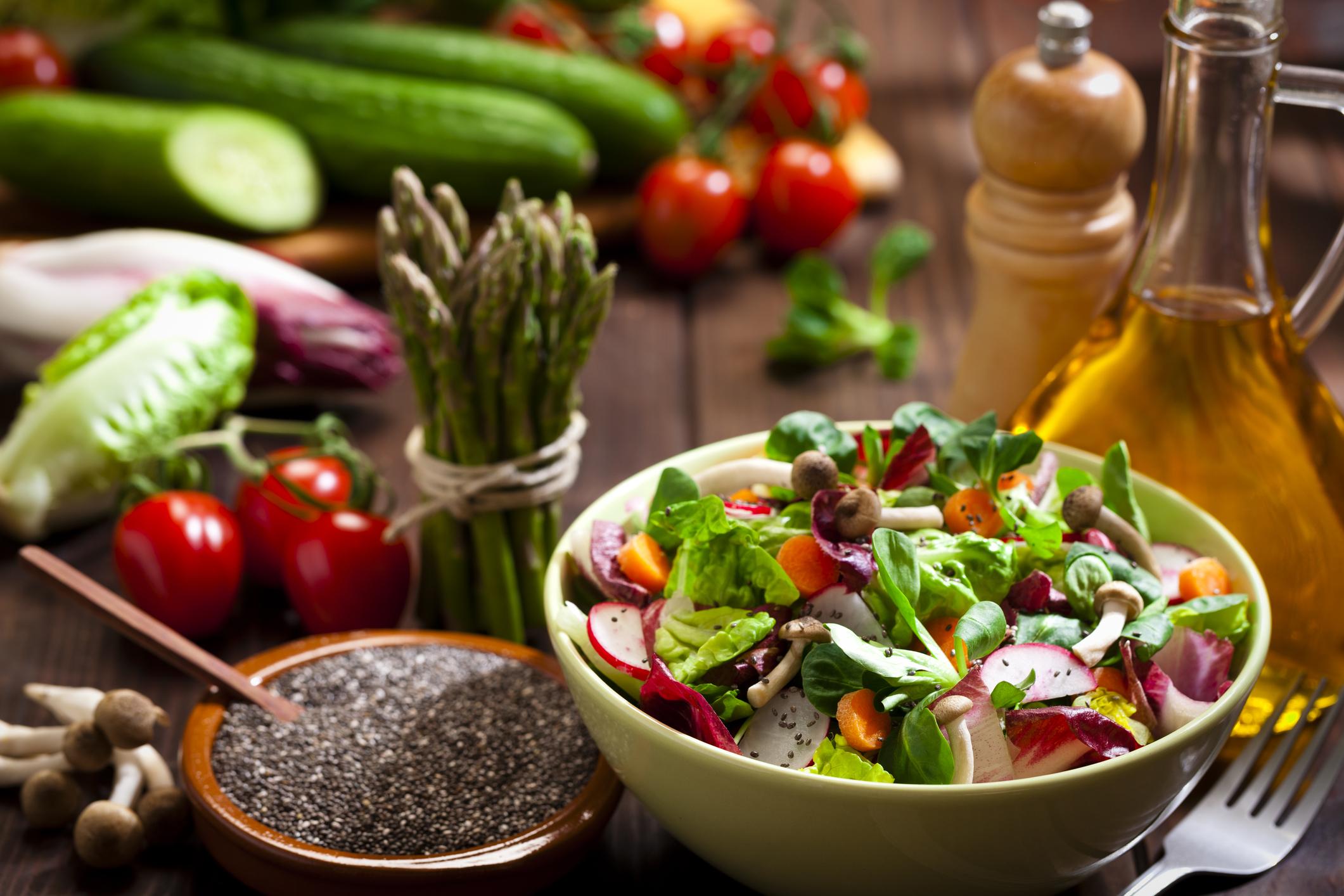 vegan salad ingredients - 31 delicious vegan recipes for Veganuary 2018
