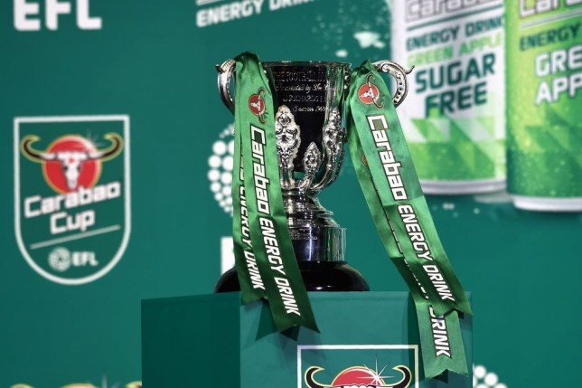 A view of the League Cup trophy