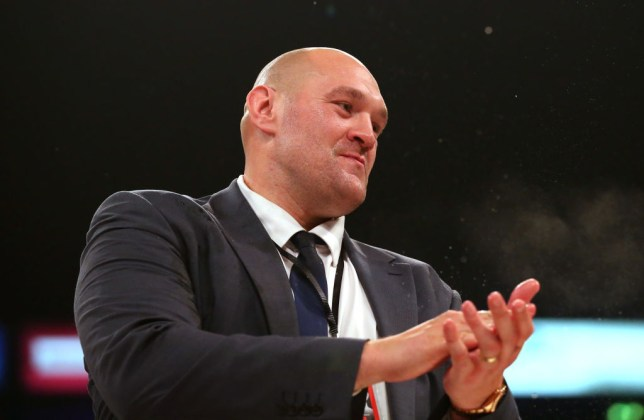 Tyson Fury rubs his hands together