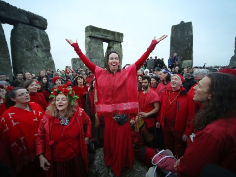 Why do people celebrate the winter solstice at Stonehenge?
