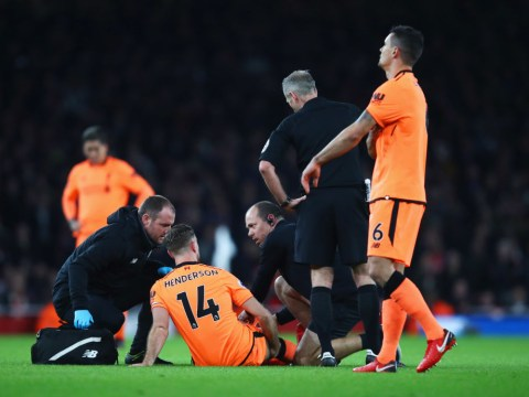 Liverpool suffer Jordan Henderson injury blow TEN minutes into Arsenal clash
