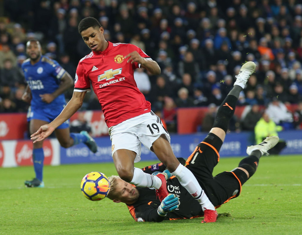 Jose Mourinho hints Marcus Rashford should have taken a dive to win Manchester United a penalty against Leicester City