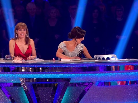 Bruno Tonioli finally fell off his chair during the Strictly Come Dancing final