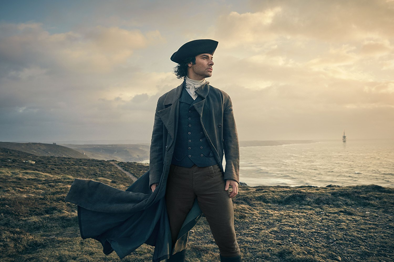 Aidan Turner as Ross Poldark in Poldark