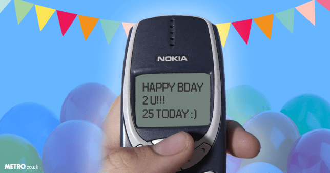 It's the text message's 25th anniversary