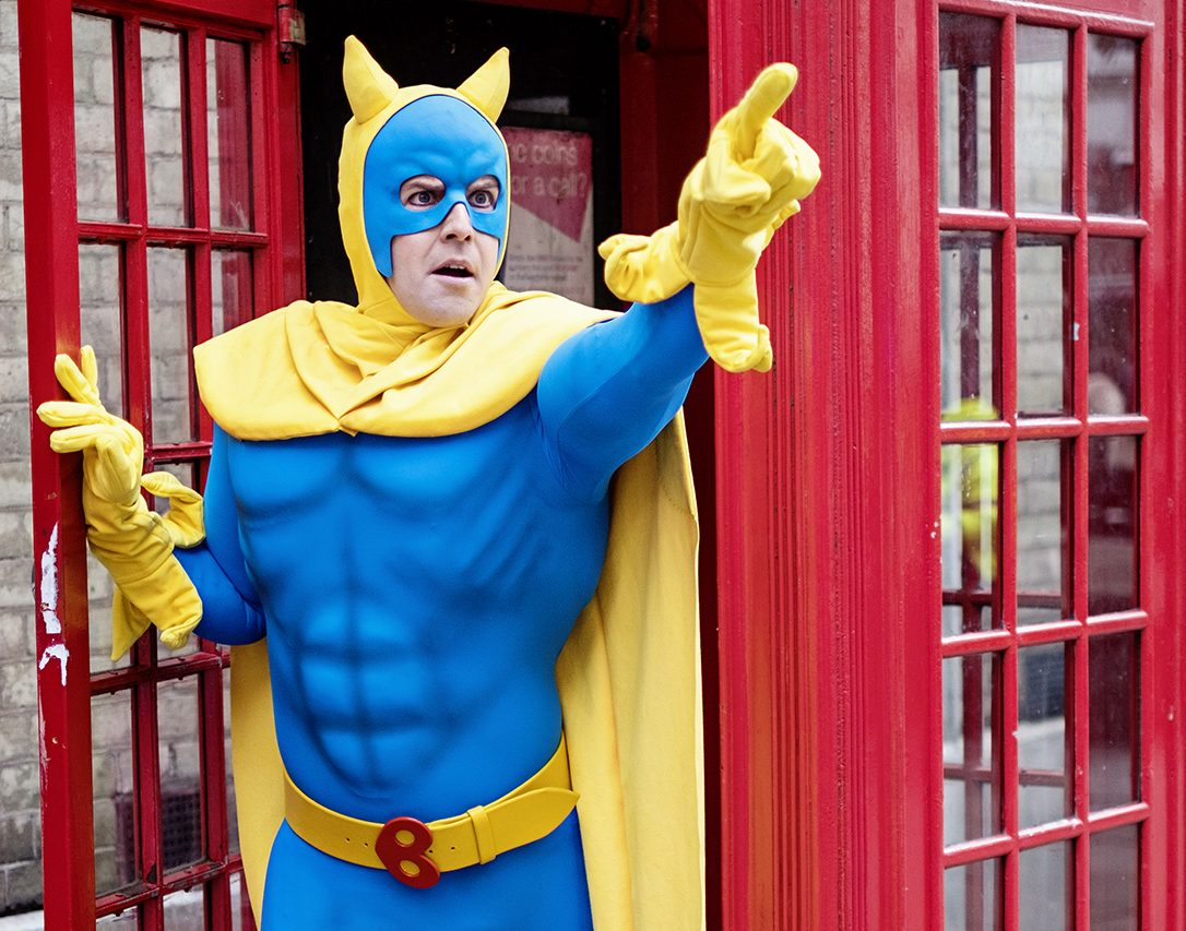First look: Bananaman makes London stage debut in suit by X-Men and Doctor Who costume designer