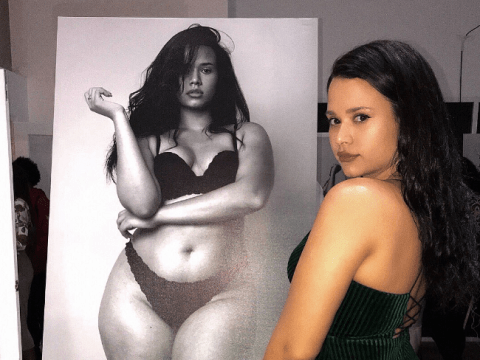 Teen overcomes her body image insecurities to become an amazing piece of art