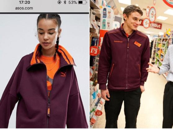 Everyone thinks this new Puma sweater looks exactly like the Sainsbury's uniform