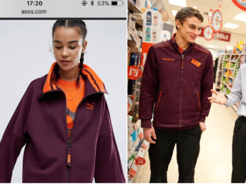 Everyone thinks this new Puma sweater looks exactly like the Sainsbury's uniform