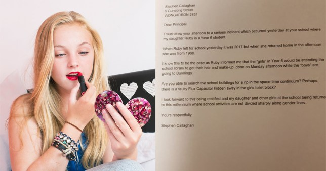 Dad writes brilliant letter to school after daughter was