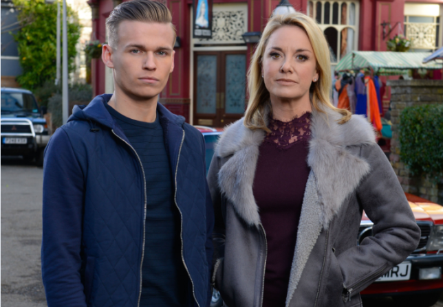 Mel Owen and her son Hunter in EastEnders