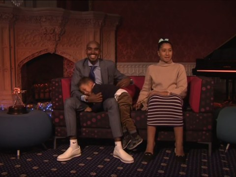 Mo Farah's son's on-screen temper tantrum steals the show at BBC Sports Personality Of The Year awards