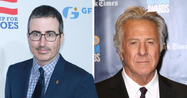 John Oliver and Dustin Hoffman