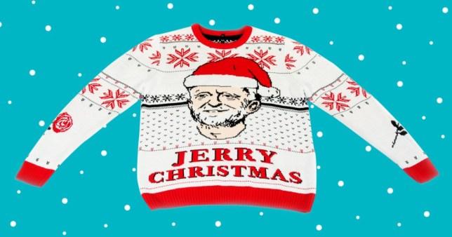Jeremy Corbyn Christmas jumper