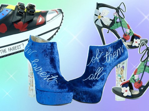 Check out this collection of 'power princess shoes' inspired by Snow White