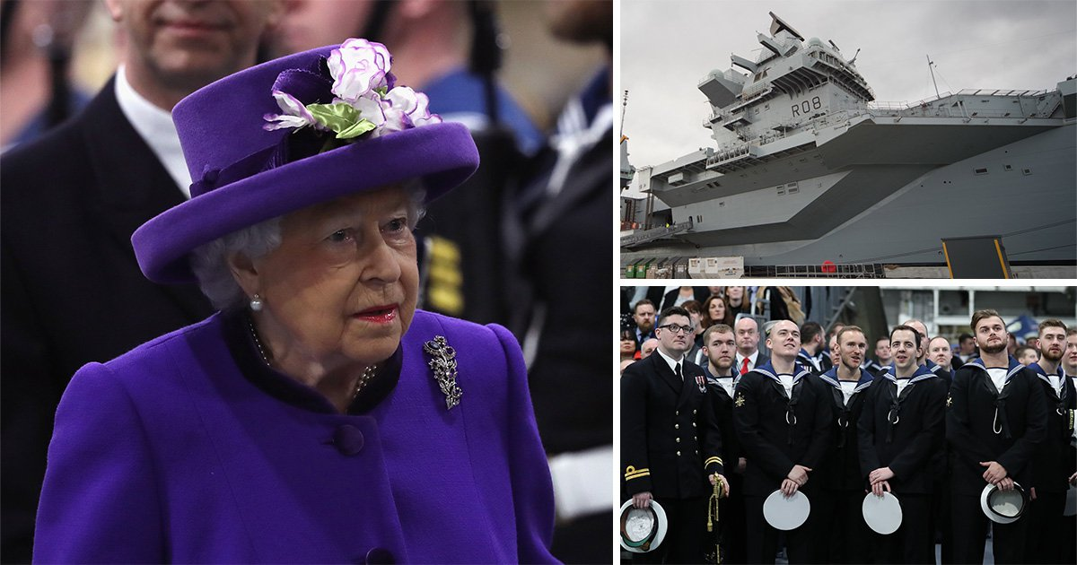 Britain's biggest warship HMS Queen Elizabeth officially joins the Royal Navy