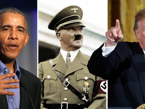 Barack Obama compares Donald Trump to Adolf Hitler in speech about democracy