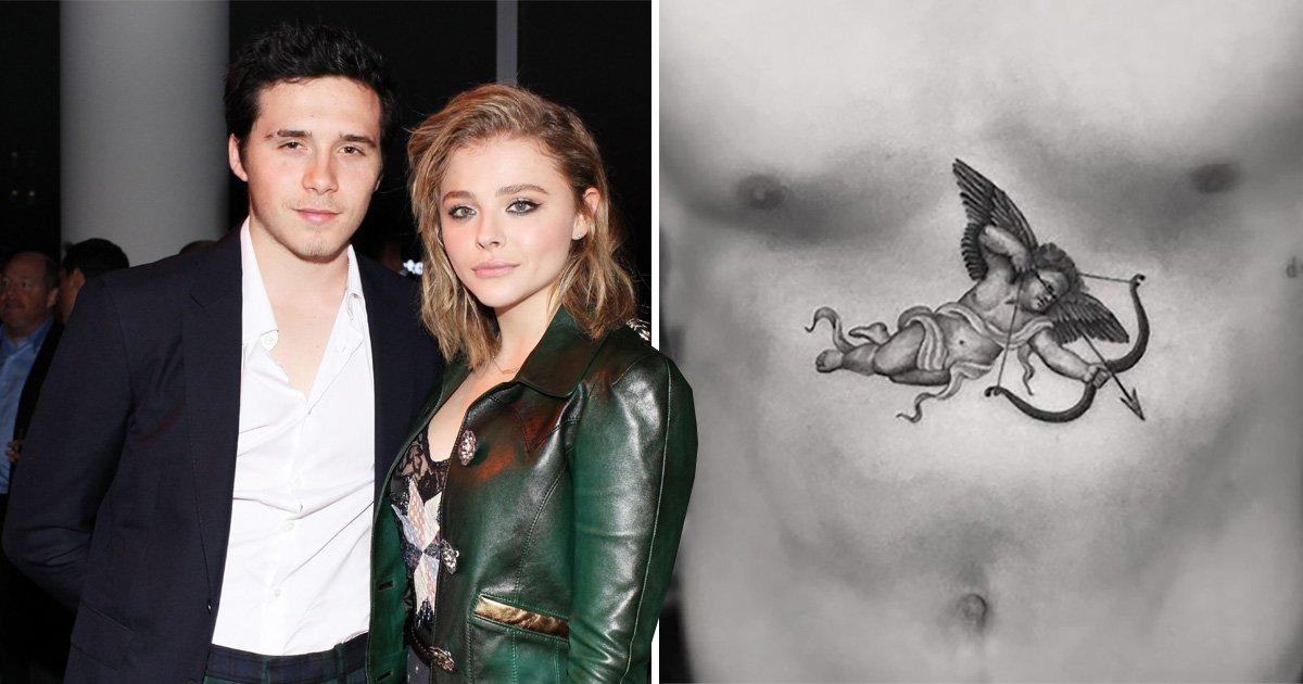 Brooklyn Beckham gets a massive romantic tattoo in 'tribute to girlfriend Chloe Moretz'