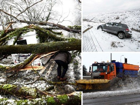 Up to 12 inches of snow expected as weather bomb cripples the UK