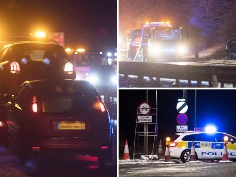 Heavy snow caused 11-car crash as temperatures plummet