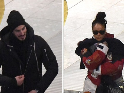 Hope she brought her umbrella! Rihanna touches down in London with Hassan Jameel amid engagement rumours