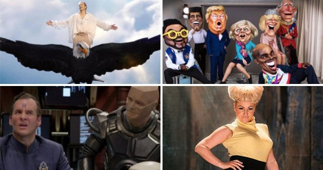 4 picture comp: Michael Bolton, Bigheads show, Red Dwarf, Babs biopic BBC