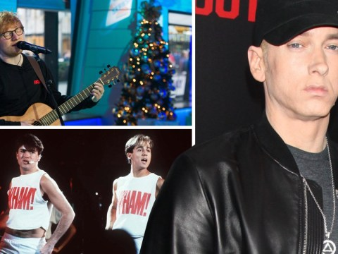 Ed Sheeran, Eminem and Wham! go head to head for Christmas number