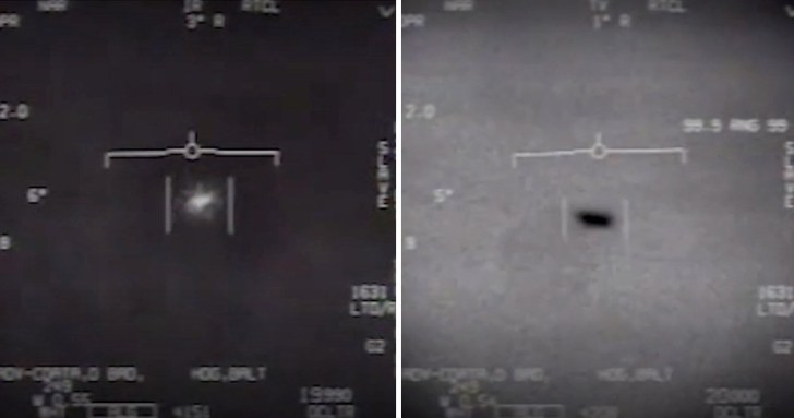 These photographs of fast-moving UFOs were taken by US Navy pilots