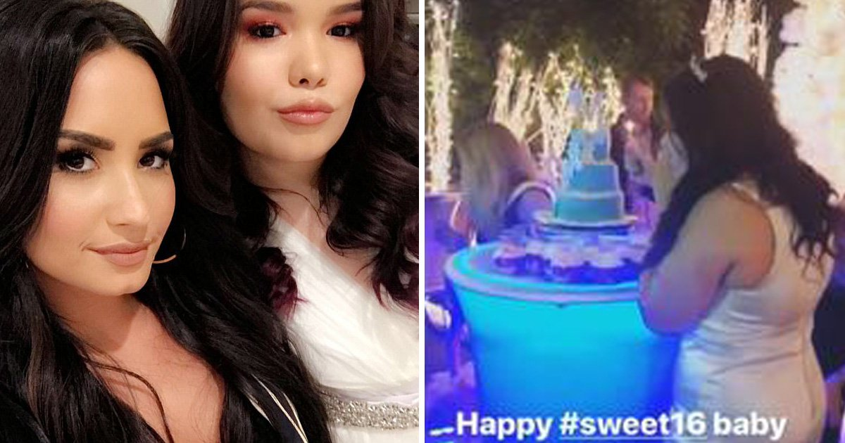 Demi Lovato warms the heart with adorable snaps from lookalike little sister's Sweet 16