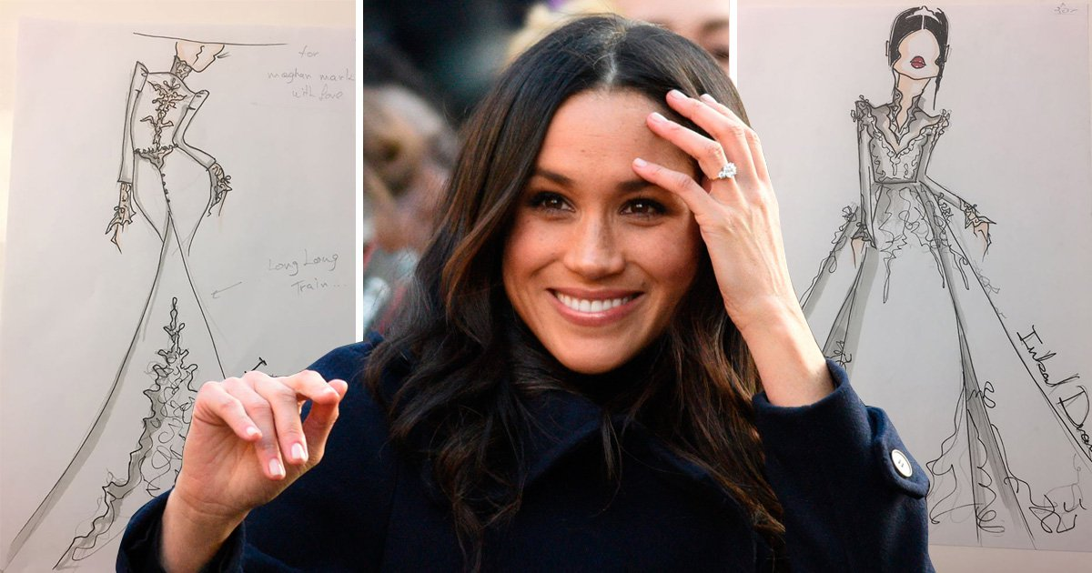 Meghan Markle wedding dress revealed? 'Elegant yet sexy' designer shares sketches