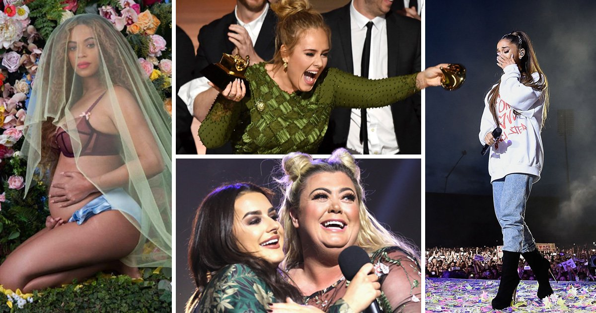 From Gemma Collins' epic fall to Beyonce's pregnancy: The best showbiz photos of 2017